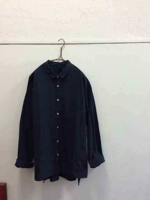 ヒムカシ/Rectangle Shirt,Mud Dyed&Mud Pure Indigo Dyed