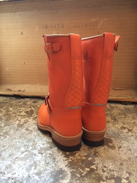 "MADE IN GM JAPAN/Engineer Boots ""orange"""