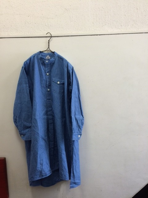 1940's Deadstock French Grandfather Shirt with Pocket