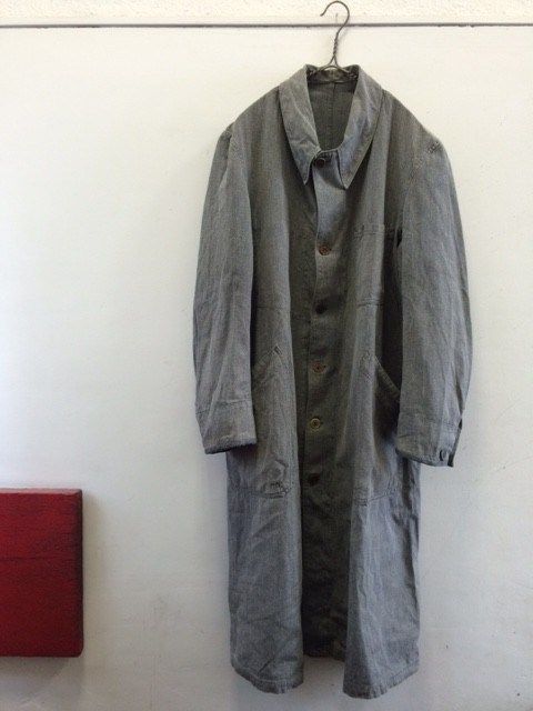 1940~50's Vintage French Atelier Coat with Cuffs