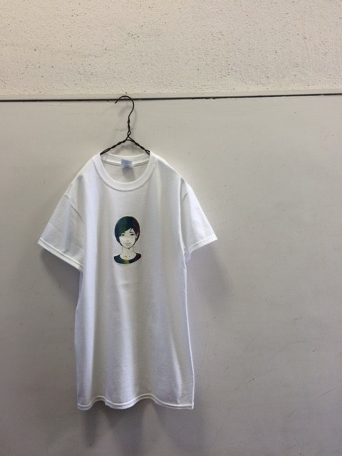 "tr.4 suspension/KYNE GIRL Tee ""White×Gradation Print"""