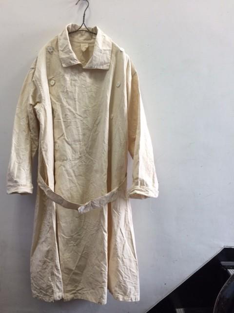 "1950's Deadstock French Linen Double Overcoat ""HM"""