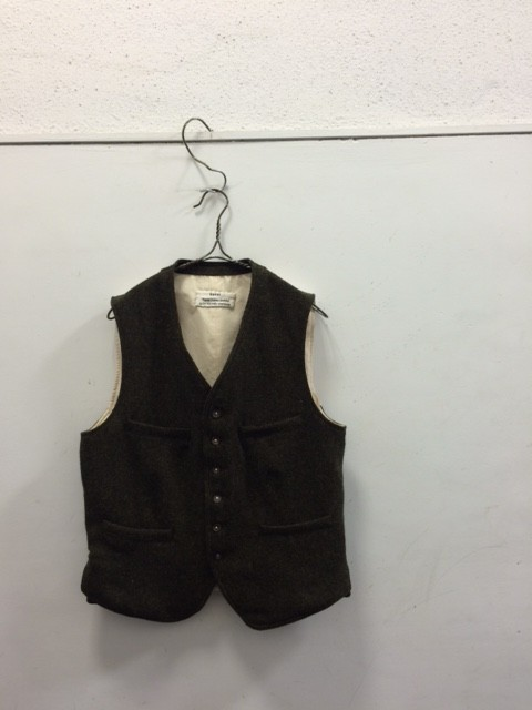 kaval/Classic Vest,Melange Wool Twill