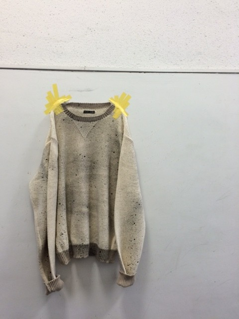 FRANK LEDER/Hand Knitted Inked Cotton Pullover