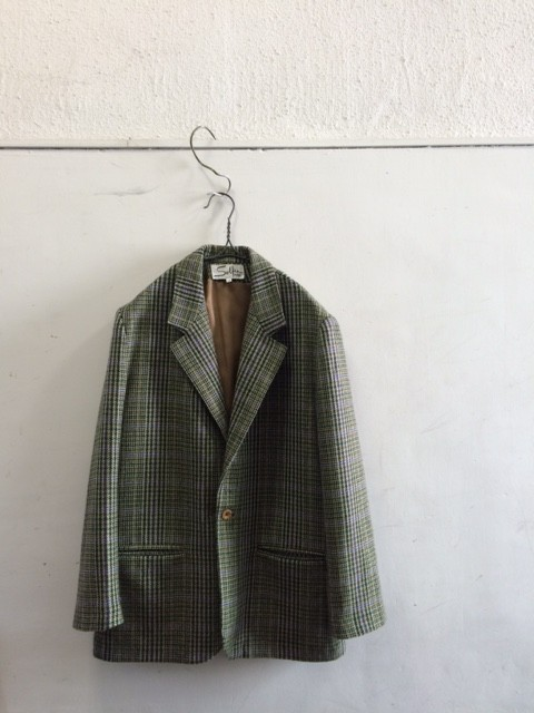 1970's Vintage French Tweed One Button Jacket