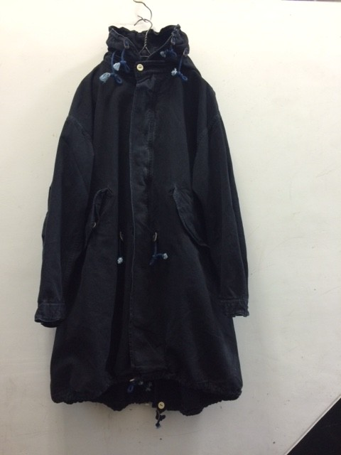 "kaval/B&S Special Fish Tail Long Coat ""indigo back twill"""