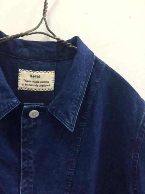 kaval/New Shop Coat,Indigo Hard Wash
