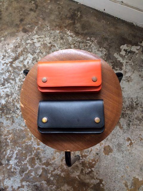 "MADE IN GM JAPAN/Accordion Wallet ""black&orange"""