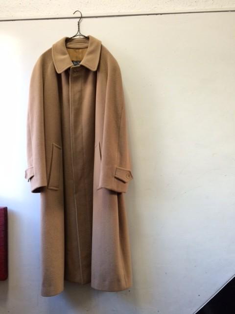 "1970's Vintage Camel Wool Coat ""Burberry"""