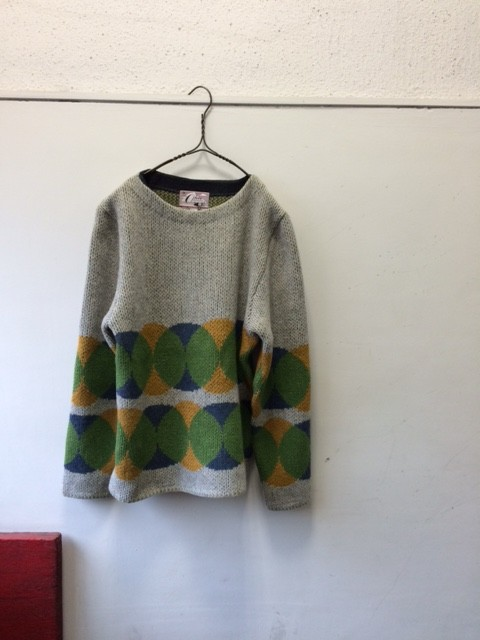"Ohio Knitting Mills/ Boat Neck Sweater ""Circles"""