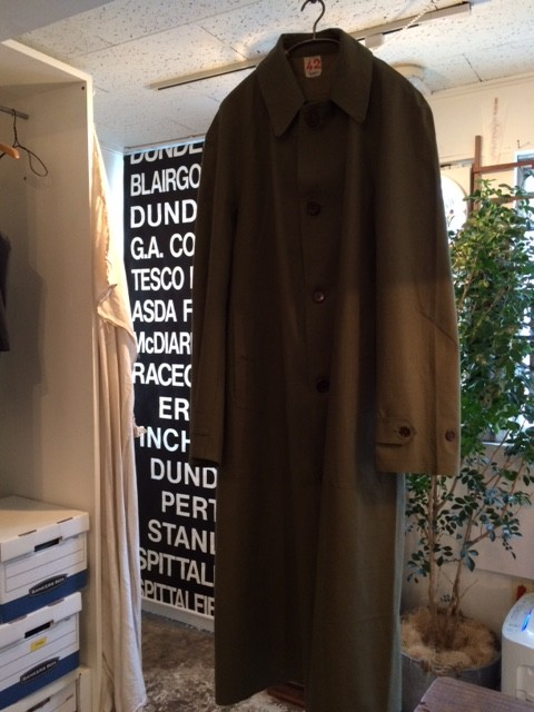1950's Deadstock French Military Rubber Cloth Coat