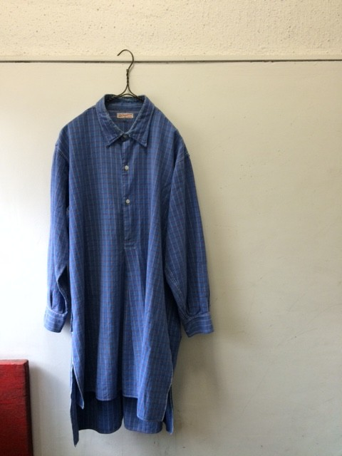1950~60's Vintage French Grandfather Shirt