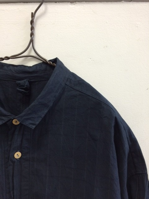 ヒムカシ/Rectangle Shirt,Mud Dyed&Mud Pure Indigo Dyed