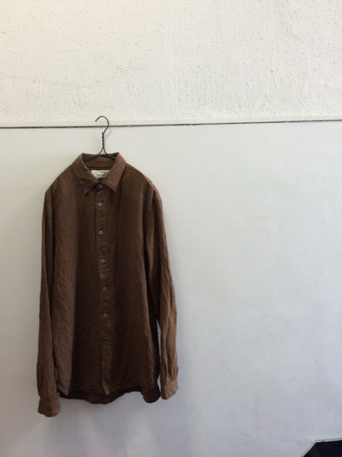 """kaval/B&S Special Basic Shirt """"Kakishibu dyed"""""""