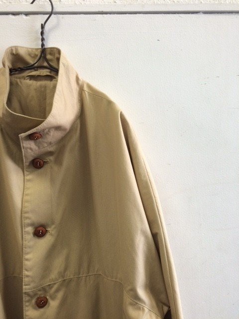 1970's Vintage French Stand-up Collar Coat