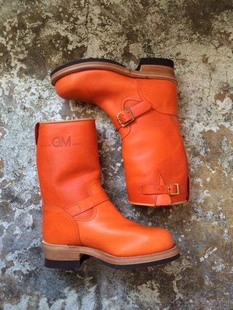 "MADE IN GM JAPAN/Engineer Boots ""orange"""
