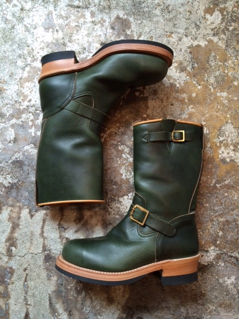 "MADE IN GM JAPAN/Engineer Boots ""green"""