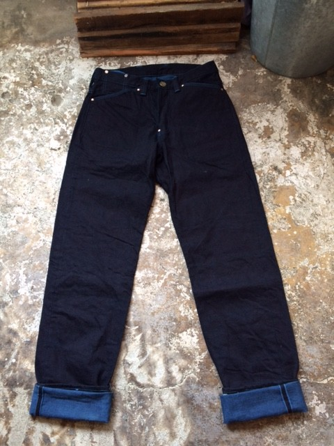 "TENDER Co./Type130 Tapered Fit Jeans ""Woad Dyed"""