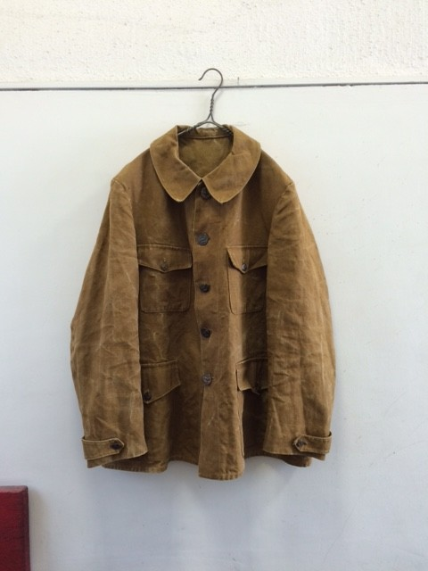 """1930's Vintage French Hunting Jacket """"Linen Canvas"""""""