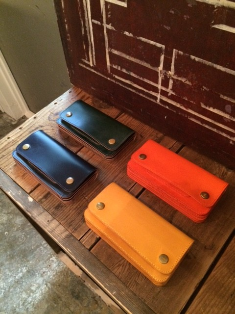 MADE IN GM JAPAN/Accordion Wallet ,navy,green,orange,yellow