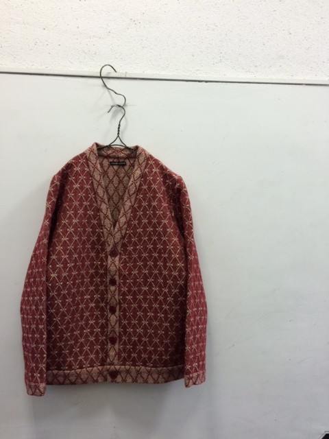 FRANK LEDER/Pattern Wool Linen Cardigan