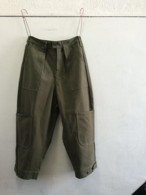 TUKI/Cargo Pants,combed duck