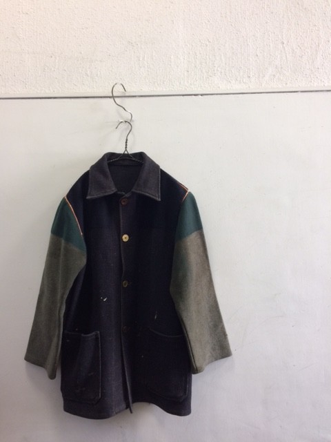 "1960'S Vintage British Donkey Jacket ""Black&Green"""