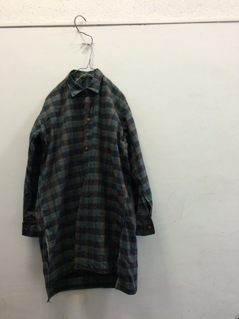 "1950's Deadstock French Long Tail Shirt ""full open"""