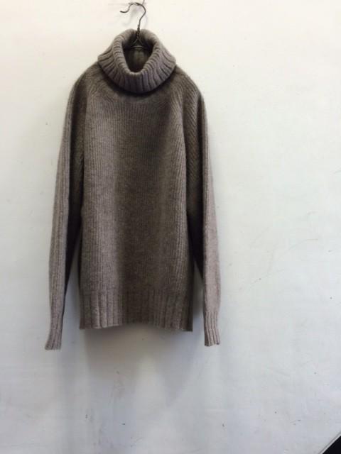 "Smoothday/High Neck Rib Knit Pullover ""YAK"""