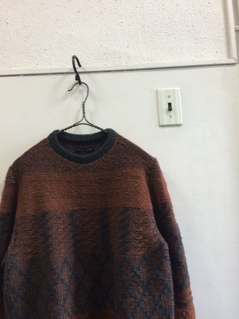 Frank Leder/Hand Knitted Wool Crew Neck