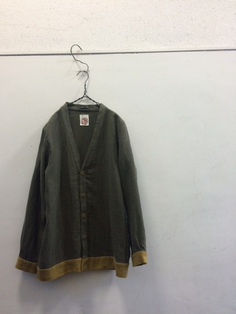 Frank Leder/Roughed Up Linen Cardigan