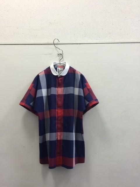 LES TROPHEES POUR QUILP/Round Collar Short Sleeve Shirt