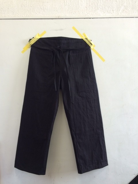 "TUKI/Karate Pants ""over dyed high count denim"""