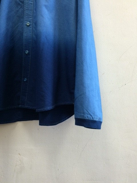 "DA'S/Pure Indigo Dyed Baseball Shirt ""Gradation"""