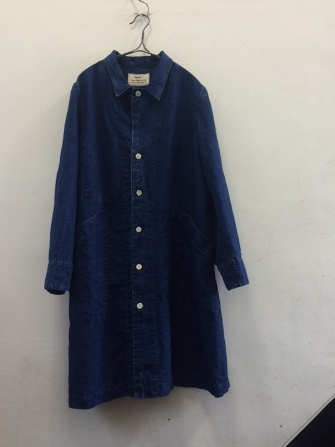 kaval/New Shop Coat,Indigo Hard Wash
