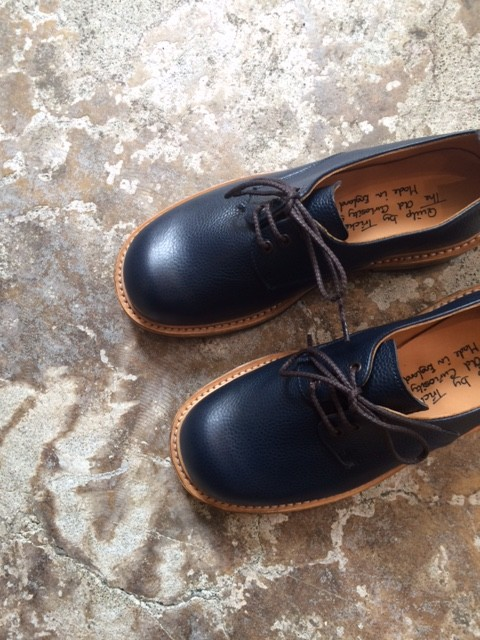 "Quilp by Tricker's/Plain Derby Shoes ""NAVY"""