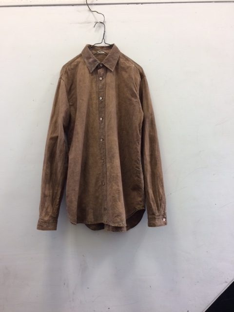 "kaval/B&S Special Kakishibu Dyed Basic Shirt ""cotton silk"""