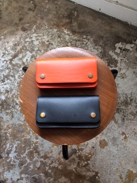 "MADE IN GM JAPAN/Accordion Wallet ""black&orange"""